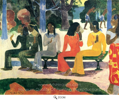 Paul Gauguin, Ta Matete (The Market) oil painting reproduction