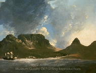 Table Bay, November 1772 painting reproduction, William Hodges