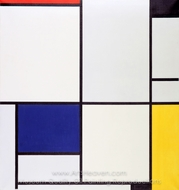 Tableau I painting reproduction, Piet Mondrian
