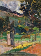Tahitian Landscape painting reproduction, Paul Gauguin