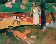 Tahitian Pastorals painting reproduction, Paul Gauguin