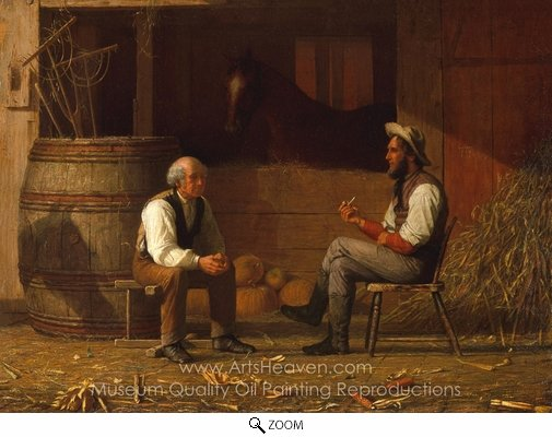 Enoch Wood Perry, Talking It Over oil painting reproduction