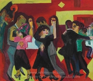 Tangotee painting reproduction, Ernst Ludwig Kirchner