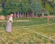Tennis at Hertingfordbury painting reproduction, Spencer Frederick Gore