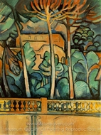 Terrace of Hotel Mistral painting reproduction, Georges Braque
