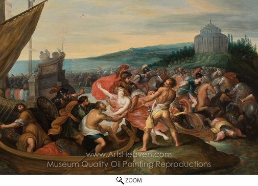 Frans Francken, The Abduction of Helen oil painting reproduction