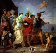 The Abduction of Helen painting reproduction, Guido Reni