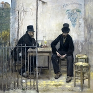 The Absinthe Drinkers painting reproduction, Jean-Francois Raffaelli