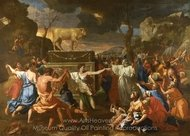 The Adoration of the Golden Calf painting reproduction, Nicolas Poussin