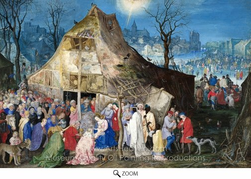Jan Brueghel, The Adoration of the Kings oil painting reproduction