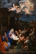 The Adoration of the Shepherds painting reproduction, Guido Reni