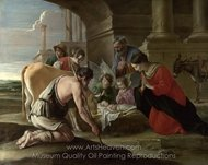The Adoration of the Shepherds painting reproduction, Louis Le Nain