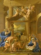 The Adoration of the Shepherds painting reproduction, Nicolas Poussin