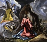 The Agony in the Garden painting reproduction, El Greco