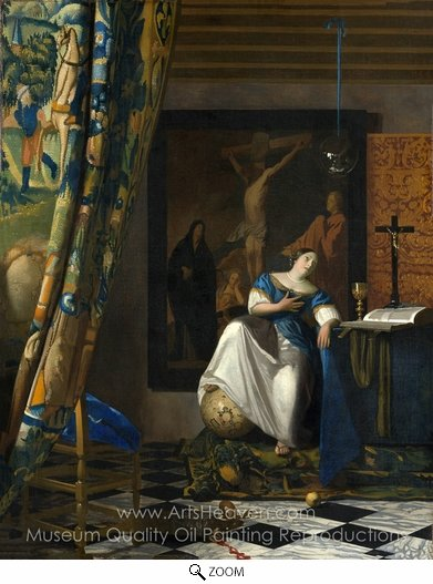 Jan Vermeer, The Allegory of Faith oil painting reproduction