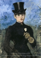 The Amazon (Horsewoman) painting reproduction, �douard Manet