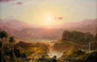 The Andes of Ecuador painting reproduction, Frederic Edwin Church