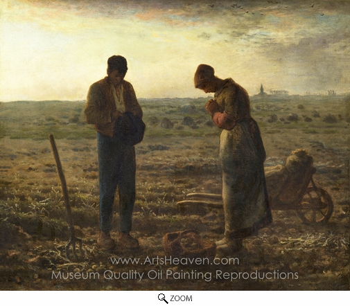 Jean-Francois Millet, The Angelus oil painting reproduction
