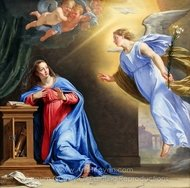 The Annunciation painting reproduction, Philippe De Champaigne