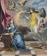 The Annunciation painting reproduction, El Greco