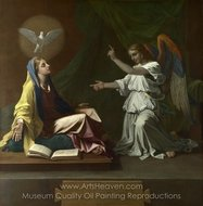 The Annunciation painting reproduction, Nicolas Poussin