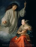 The Annunciation painting reproduction, Godfried Schalcken
