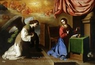 The Annunciation painting reproduction, Francisco De Zurbaran