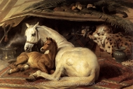 The Arab Tent painting reproduction, Sir Edwin Landseer