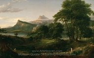 The Arcadian, Pastoral State painting reproduction, Thomas Cole