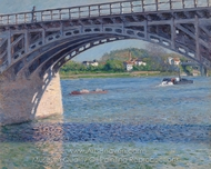 The Argenteuil Bridge and the Seine painting reproduction, Gustave Caillebotte