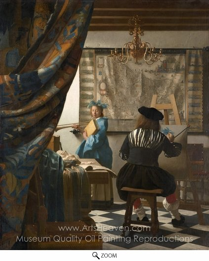 Jan Vermeer, The Art of Painting oil painting reproduction