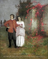 The Artist and His Wife painting reproduction, Arnold Bocklin