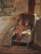 The Artist's Daughters painting reproduction, Harold Gilman