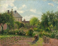 The Artist's Garden at Eragny painting reproduction, Camille Pissarro