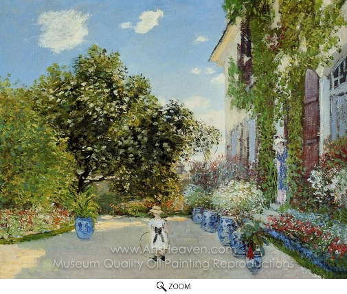 Claude Monet, The Artist's House at Argenteuil oil painting reproduction