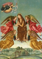 The Ascension of Saint Mary Magdalene painting reproduction, Italian Painter