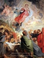 The Assumption of the Virgin painting reproduction, Peter Paul Rubens