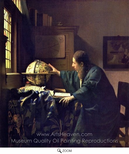 Jan Vermeer, The Astronomer oil painting reproduction
