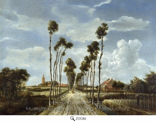 Meindert Hobbema, The Avenue at Middleharnis oil painting reproduction
