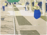 The Avenue (Die Avenue) painting reproduction, Edouard Vuillard