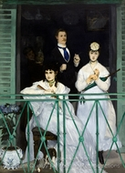The Balcony painting reproduction, Édouard Manet