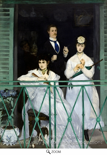 Édouard Manet, The Balcony oil painting reproduction