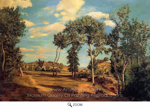 Jean Frederic Bazille, The Banks of the Lez oil painting reproduction