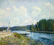 The Banks of the Oise painting reproduction, Alfred Sisley