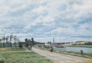 The Banks of the Oise Near Pontoise painting reproduction, Camille Pissarro