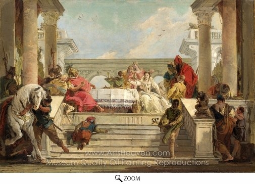Giovanni Battista Tiepolo, The Banquet of Cleopatra oil painting reproduction
