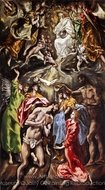 The Baptism of Christ painting reproduction, El Greco