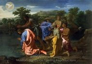 The Baptism of Christ painting reproduction, Nicolas Poussin