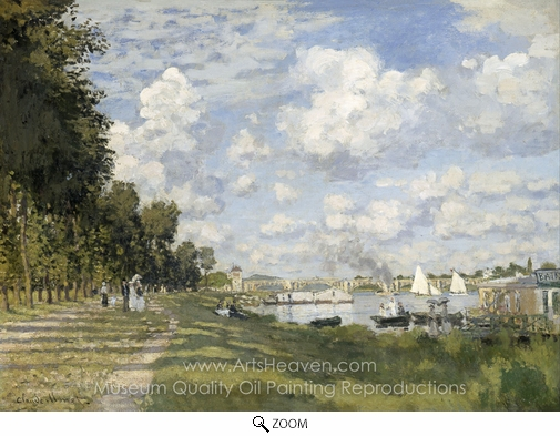 Claude Monet, The Basin at Argenteuil oil painting reproduction