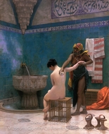 The Bath painting reproduction, Jean-Leon Gerome